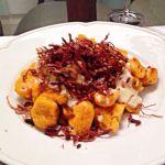Nhoque de abóbora com molho de Gorgonzola e Carne Seca crocante