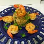 Risoto de Quinoa com camarões grelhados
