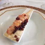 Lagostim com Creme de Limão Siciliano e Caviar de Tapioca